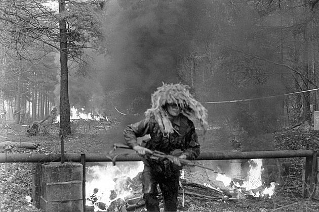 The Bayonet Assault Course , Guards Depot Pirbright 1984